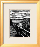 Scream Affiche par Edvard Munch