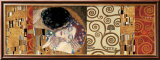 Deco Collage (from The Kiss) Lámina por Gustav Klimt
