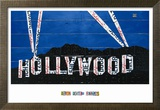 Hollywood Sign at Night Print by Aaron Foster