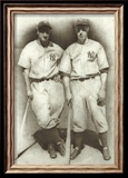 DiMaggio and Gehrig Print by Allen Friedlander