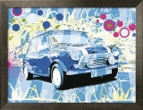 Vintage Mini Cooper Affiche par Michael Cheung