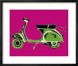 Vespa on Pink Print by Myrjam Tell