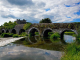 13 Arch Bridge over the River Funshion, Glanworth, County Cork, Ireland Lámina fotográfica