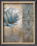 Fleur Bleue II Posters by Vivian Flasch