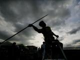 Brunei's Haji Jumaat Shari Performs at Men's Javelin Throw at Third Asean for Games in Manila Photographic Print