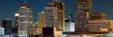Buildings in a City Lit Up at Night, Detroit River, Detroit, Michigan, USA Photographic Print by  Panoramic Images
