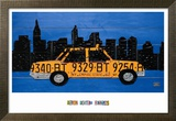 New York Taxi Cab Poster par Aaron Foster