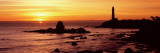 Silhouette of a Lighthouse at Sunset, Pigeon Point Lighthouse, San Mateo County, California, USA Photographic Print by  Panoramic Images