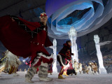 Aboriginal Dancers Perform During the Opening Ceremonies at the 2010 Vancouver Olympic Winter Games Photographic Print