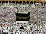 Muslim Pilgrims Performing the Hajj, at the Afternoon Prayers Inside the Grand Mosque, Mecca Photographic Print