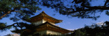 View of Trees in Front of a Temple, Kinkaku-Ji Temple, Kyoto City, Kyoto Prefecture, Kinki Region,  Photographic Print by  Panoramic Images