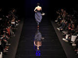 Model on the Catwalk, Displaying a Creation by Fashion Designer Lea Seong During China Fashion Week Photographic Print