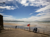 Promenade, Beach and Distant Brownstown Head, Tramore, County Waterford, Ireland Photographie