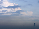 Sears Tower Rises Above the Early Morning Fog in Chicago Photographic Print