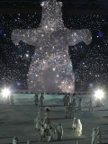 Performers During the Opening Ceremony for the Vancouver 2010 Olympics Photographic Print