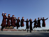 Ushers Pose at Tiananmen Square for the Chinese People's Political Consultative Conference, Beijing Photographic Print