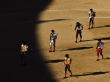 Bullfighters Make the Traditional Entrance into the Arena, before a Bullfight in Madrid Photographic Print