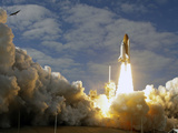 Space Shuttle Atlantis Lifts Off at the Kennedy Space Center in Cape Canaveral, Florida Photographic Print