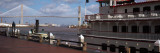 Ferry in River, Georgia Queen, Talmadge Bridge, Savannah River, Savannah, Chatham County, Georgia Photographic Print by Panoramic Images 