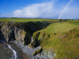 Rainbow over Ballydowane, the Copper Coast, County Waterford, Ireland Photographic Print
