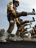 India's Central Industrial Security Force Assistant Commandants March During their Parade in India Photographic Print