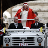 Pope Benedict XVI on His Popemobile, Arriving for the Weekly Audience in St. Peter's Square at the  Photographic Print