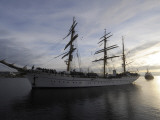 German Sailor Gorch Fock is Pictured During its Arrival in Kiel, Northern Germany Stampa fotografica