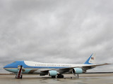 Air Force One Awaits the Arrival of President Barack Obama at Andrews Air Force Base Photographic Print