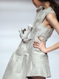 Model Displays a Creation by University Graduates During China Fashion Week in Beijing Photographic Print