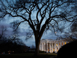 Lights are on Early at the White House in Washington Photographic Print