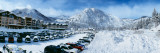 Snow Covered Cars in Parking Lot, Squaw Valley Ski Resort, Lake Tahoe, Placer County, California Photographic Print by  Panoramic Images