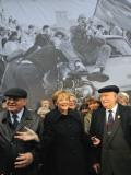 Former Soviet Leader Mikhail Gorbachev and Others During the Commemorations of Fall of Berlin Wall Photographic Print