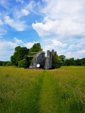 """Leviathon"" 19th Century Astronomical Telescope, in Wildflower Meadow, Birr Castle, Ireland Photographic Print"