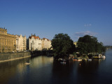 Buildings at the Waterfront, Vltava River, Prague, Czech Republic Photographic Print