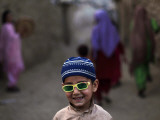 Playing in an Alley of Islamabad, Pakistan Photographic Print