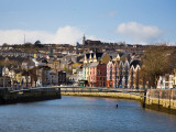 Kneeling Canoe, River Lee, Cork City, Ireland Photographic Print