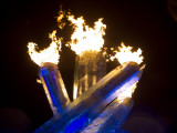 Olympic Flame Burns after Wayne Gretzky Lit the Olympic Cauldron at the 2010 Winter Games Photographic Print