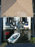 New Orleans Residents Wait to Be Rescued from the Floodwaters of Hurricane Katrina Photographic Print