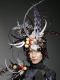 Model Displays a Creation by Pastry Chef Koichi Izumi During the Tokyo Sweets Collection 2009 Photographic Print
