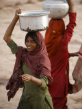 Woman Smiles after Collecting Drinking Water, on the Outskirts of Islamabad, Pakistan Photographic Print