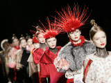 Models Present Creations by Japanese Fashion Designer Toshikazu Iwaya for Fashion House Iwaya Photographic Print