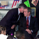 President Bush's Chief of Staff Gives Word of World Trade Center, During Visit to Elementary School Photographic Print