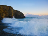 Stormy Seas at Ballyvooney Cove, the Copper Coast, County Waterford, Ireland Photographic Print