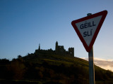 Gaelic Stop Sign, Below the Rock of Cashel, County Tipperary, Ireland Photographic Print