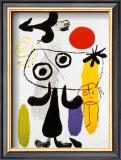 Figur Gegen Rote Sonne II, c. 1950 Posters by Joan Miró
