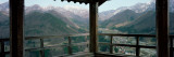 Mountain Range from a Balcony, Yamadera, Yamagata Prefecture, Honshu, Japan Photographie par Panoramic Images
