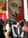 Visitors Form a Long Queue Outside Tokyo's Ueno-No-Mori Art Museum Photographic Print