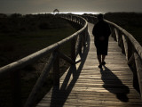 Along a Wooden Track During a Walk to the Beach in Village of Zahara De Los Atunes, Southern Spain Photographic Print