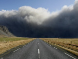 Eruption of the Volcano in Southern Iceland's Eyjafjallajokull Glacier Sends Ash into the Air Photographic Print