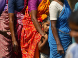 Standing in Queue to Receive Tsunami Relief Materials in Southern Indian State of Tamil Nadu Photographic Print